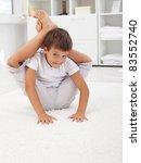 little contortionist boy... | Shutterstock . vector #83552740