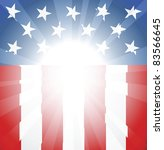 Abstract American flag background with copyspace and focus in centre ready take your text or image - stock photo