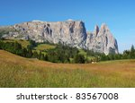 mount sciliar in the dolomites | Shutterstock . vector #83567008