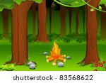 illustration of burning bonfire ... | Shutterstock .eps vector #83568622
