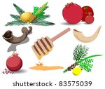 a pack of vector illustrations... | Shutterstock .eps vector #83575039