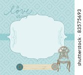 beautiful retro card with photo ... | Shutterstock .eps vector #83575693