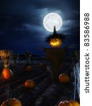 3d Rendered Halloween Scene...