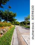 walkway in park - stock photo