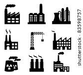 industrial buildings on white... | Shutterstock .eps vector #83598757