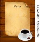 restaurant menu on the old... | Shutterstock .eps vector #83599144