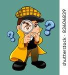 inspector cartoon | Shutterstock .eps vector #83606839