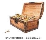 pirate treasure chest isolated... | Shutterstock . vector #83610127
