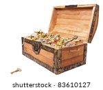 pirate treasure chest isolated... | Shutterstock . vector #83610127