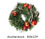 christmas wreath | Shutterstock . vector #836129
