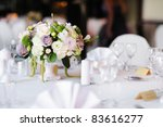Table Set For An Event Party Or ...