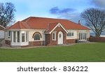 New Bungalow in UK - stock photo