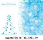 christmas decoration background ... | Shutterstock . vector #83628349