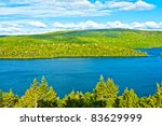 Panorama Lake Of Sacacomie  In...