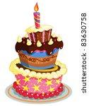 birthday cake | Shutterstock .eps vector #83630758