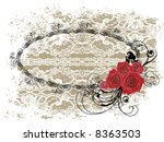 Lace Oval Frame Valentine Red...