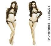 attractive sexual brunette in... | Shutterstock . vector #83636236