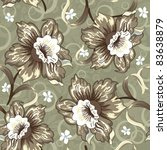 seamless pattern with daffodils.... | Shutterstock .eps vector #83638879