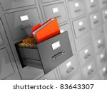 3d illustration of information... | Shutterstock . vector #83643307
