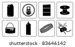 recyclable scrap metal icon set.... | Shutterstock .eps vector #83646142
