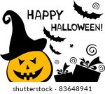 halloween card isolated on... | Shutterstock .eps vector #83648941