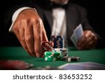 card player gambling casino... | Shutterstock . vector #83653252