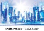city landscape | Shutterstock .eps vector #83666809