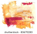 abstract watercolor hand... | Shutterstock . vector #83670283