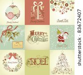 set of christmas cards | Shutterstock .eps vector #83672407