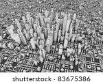 render of a big city | Shutterstock . vector #83675386
