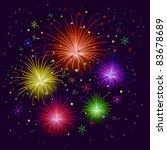 various celebratory firework...   Shutterstock .eps vector #83678689