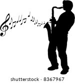 A Vector Sax Player Background...