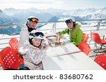 Winter  Ski   Family Enjoying...