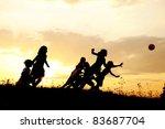 running children  ball sport ... | Shutterstock . vector #83687704