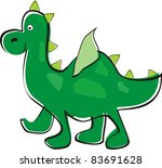 green dragon. children's drawing | Shutterstock .eps vector #83691628