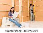 home improvement happy young... | Shutterstock . vector #83693704