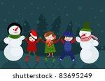 winter vector card | Shutterstock .eps vector #83695249