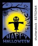 happy halloween illustration | Shutterstock .eps vector #83702464