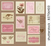 Retro Postage Stamps   For...