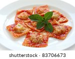 homemade ravioli pasta with... | Shutterstock . vector #83706673