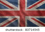 Weathered Union Jack Uk Flag...