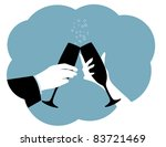 Champagne Toast Silhouette Two...