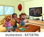 some kids gettogether to see a... | Shutterstock . vector #83728786