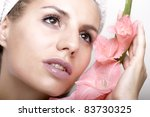 young beautiful lady with a... | Shutterstock . vector #83730325