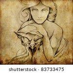 tattoo art  sketch of mystic... | Shutterstock . vector #83733475