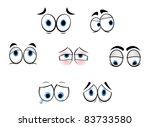 set of cartoon funny eyes for...   Shutterstock . vector #83733580
