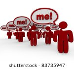 pick or choose me  is the hope... | Shutterstock . vector #83735947