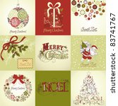 set of christmas cards | Shutterstock .eps vector #83741767