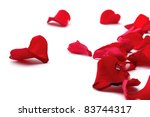 Stock photo rose petals isolated on white 83744317