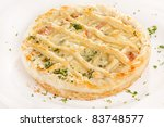 Tasty Quiche With Cheese And...